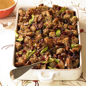 Pecan Dressing with Dried Cherries