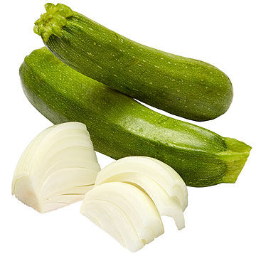 Pasta with Zucchini and Onion