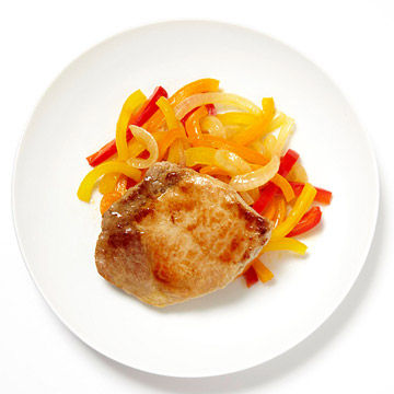 Pork With Onions and Peppers