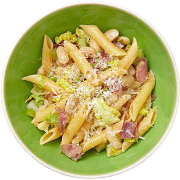 Ziti With White Beans, Cabbage, and Prosciutto