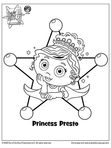 princess and the pea coloring page. super why\u0026#039;s princess presto and the pea coloring page o