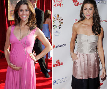 Samantha Harris before and after pregnancy