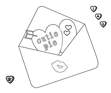 valentine card coloring page