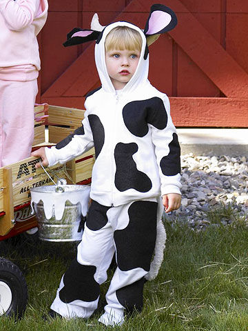 cow costume - Child Halloween Costumes Homemade