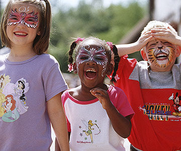 Kids with Face Painted
