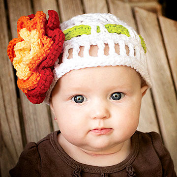 Baby Beanie with Flower