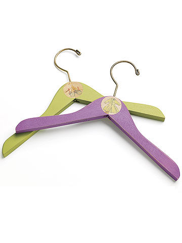 color-coded hangers