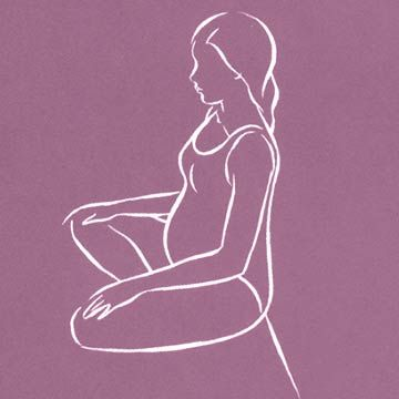 Healthy Sitting Position on Floor