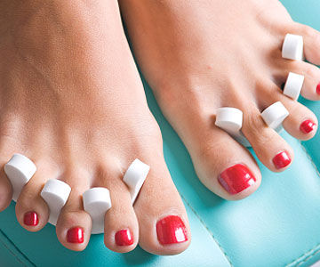 woman's pedicure toes