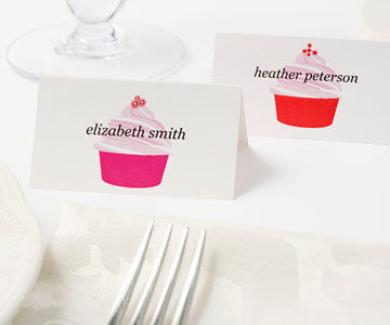 Place cards on table