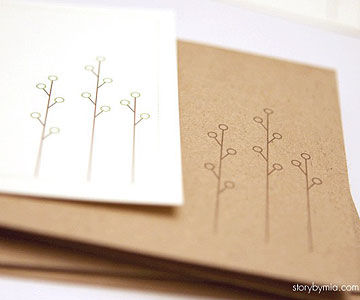 Spring Trees Note Cards