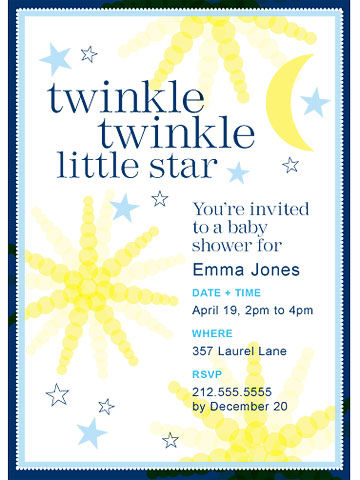 twinkle baby shower invite