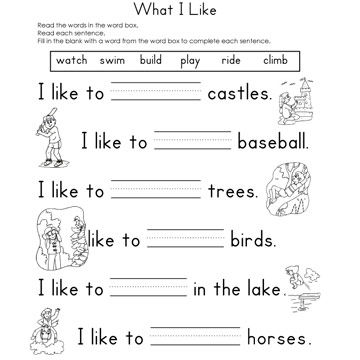 Printables Fill In The Blank Worksheets fill in the blank worksheets what i like reading worksheet