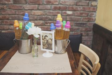 Baby Bottle Chug Is Fun Game For Co Ed Baby Shower.