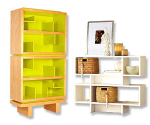 Storytime Bookcase, Stacked Modular Bookcase