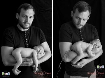 New dad Al Ferguson baby poop photos, Kirsty Grant photographer