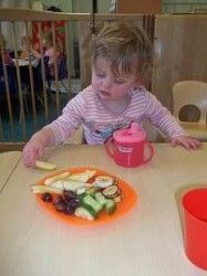 Child Eating Healthy Snack