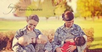 Photo of Military Moms Breastfeeding in Uniform Sparks Controversy 29683