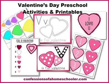 valentines day preschool activities and printable