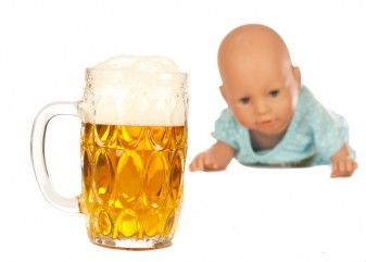 beer and baby doll