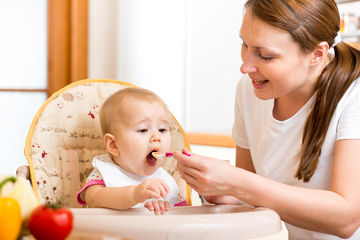 Feeding  Month Old Baby Food