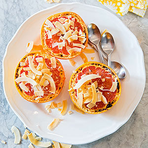 Broiled Grapefruit with Coconut