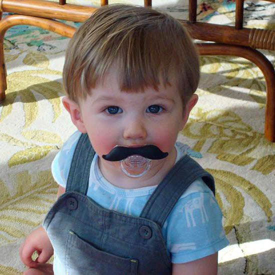 Kid with mustache
