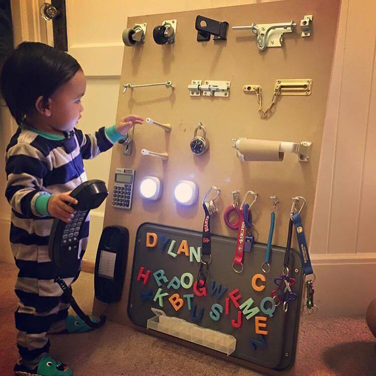 This Dad Made An Incredible Homemade Busy Board For His Toddler