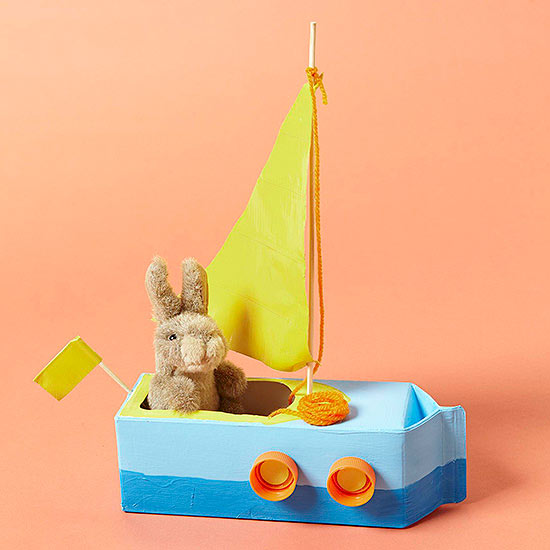Sailboat Craft From Everyday Items