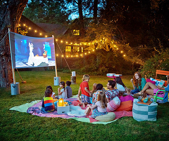 How to Build a Movie Screen Outdoor Activities for Kids  Ideas Tips Parents