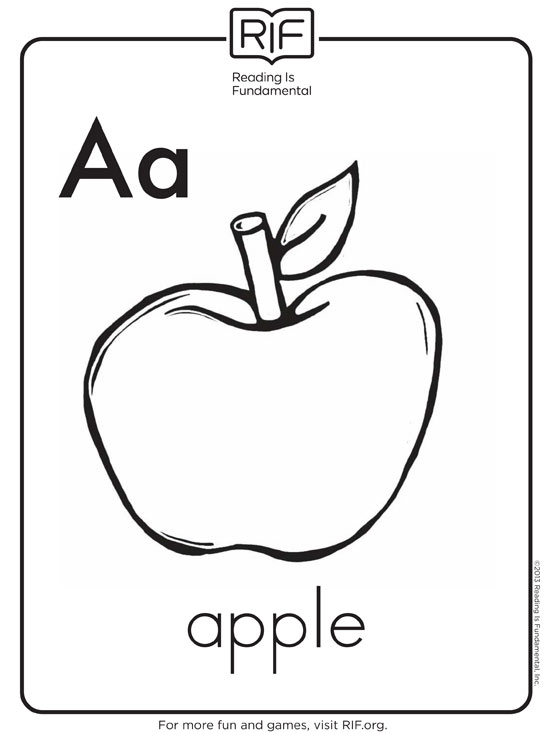 Letter A Coloring Pages For Toddlers Free Alphabet Coloring Pages