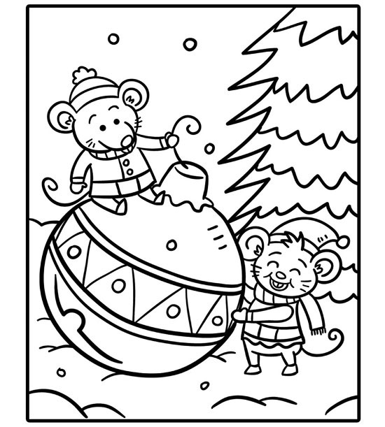 printable holiday coloring pages - Holiday Pictures To Colour