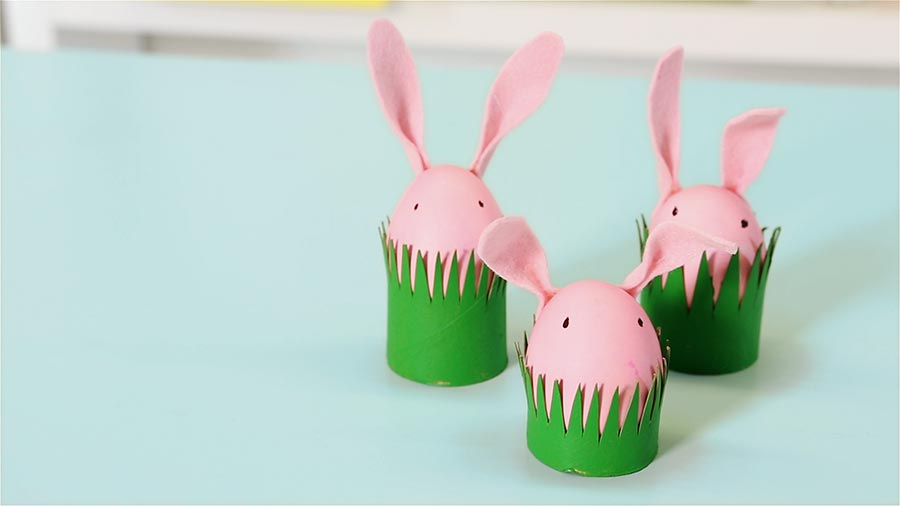 Quick and easy easter craft cardboard tube bunnies parents negle Images