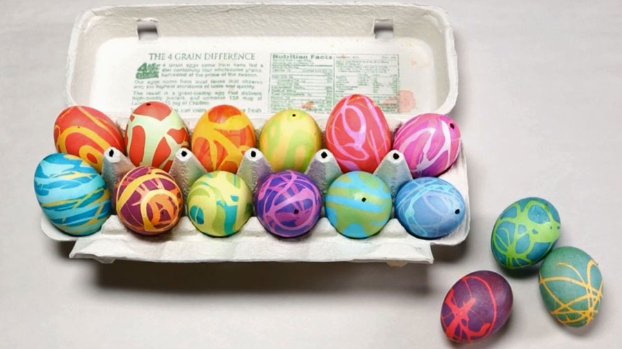 Easter crafts gifts activities parents how to make rubber cement easter eggs negle Images