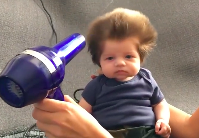This 8-Week-Old Baby Probably Has More Hair Than You