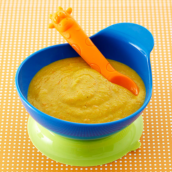 Curried Carrots And Red Lentil Puree