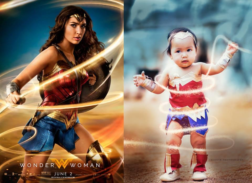 Wonder Woman baby vs. Gal Gadot