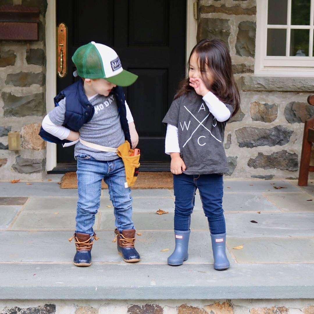 Chip and Joanna Halloween costumes for Kids 2