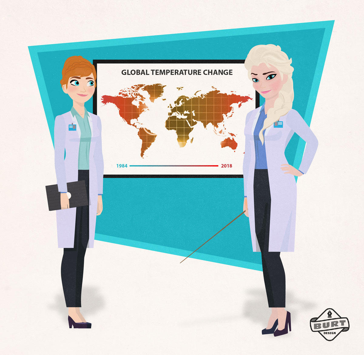 Elsa and Anna: Climate Change Scientists