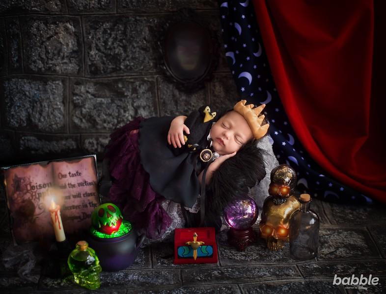 Babble Disney Villains Newborn Shoot by Karen Marie The Evil Queen