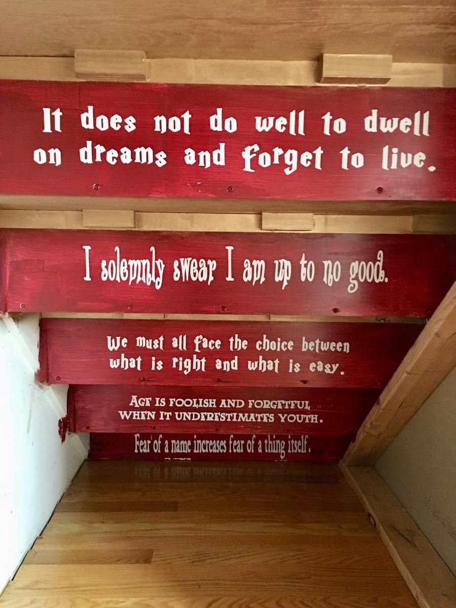 Harry Potter cupboard under the stairs interior