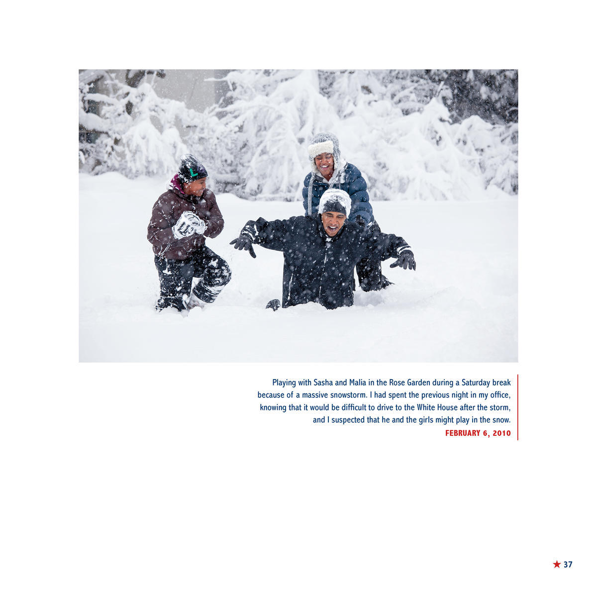 President Obama Playing In The Snow With Sasha and Malia, Exclusive Images from His White House Photographer's New Children's Book
