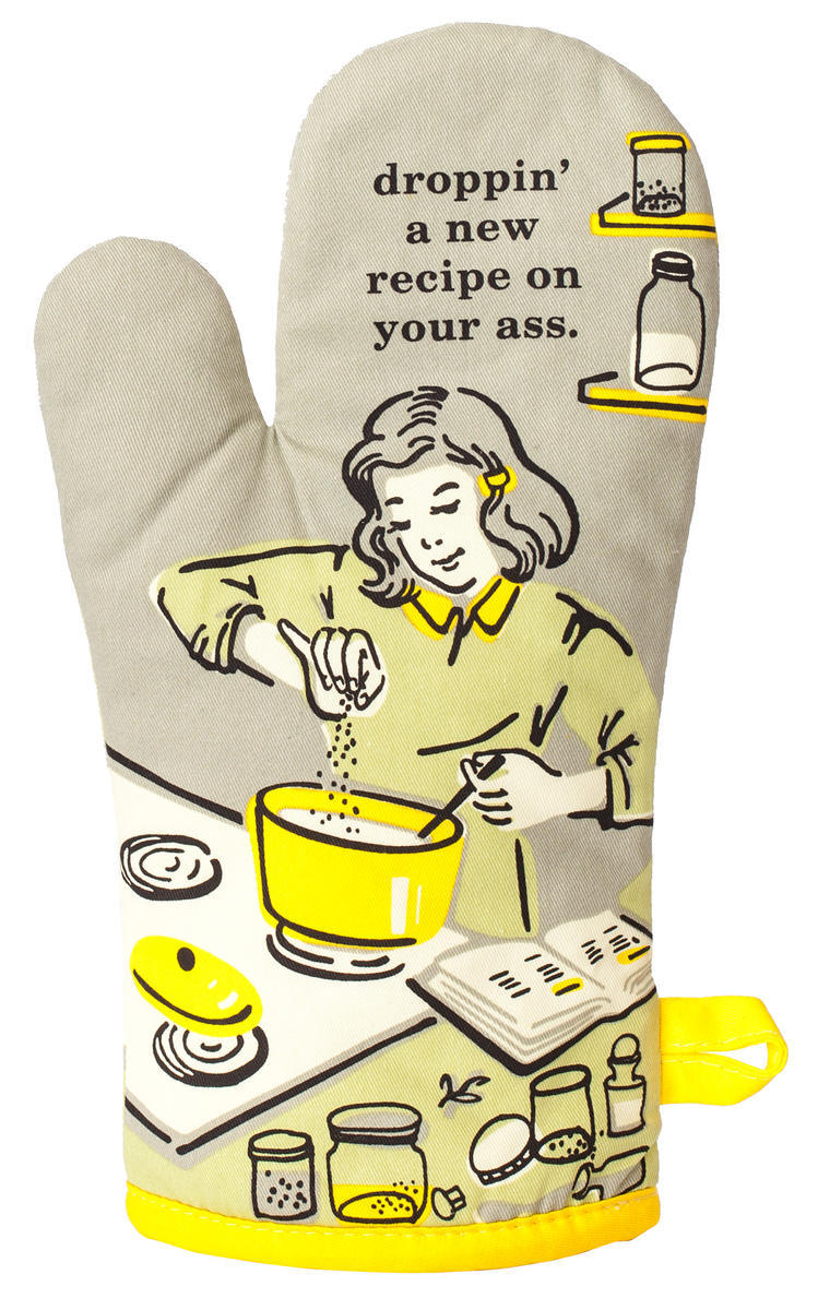 Always Fits Curse Word Oven Mitts: Droppin' a new recipe on your a**