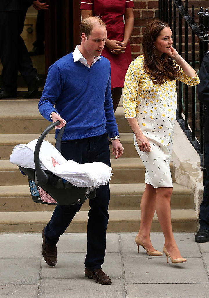 Kate and William with baby Charlotte