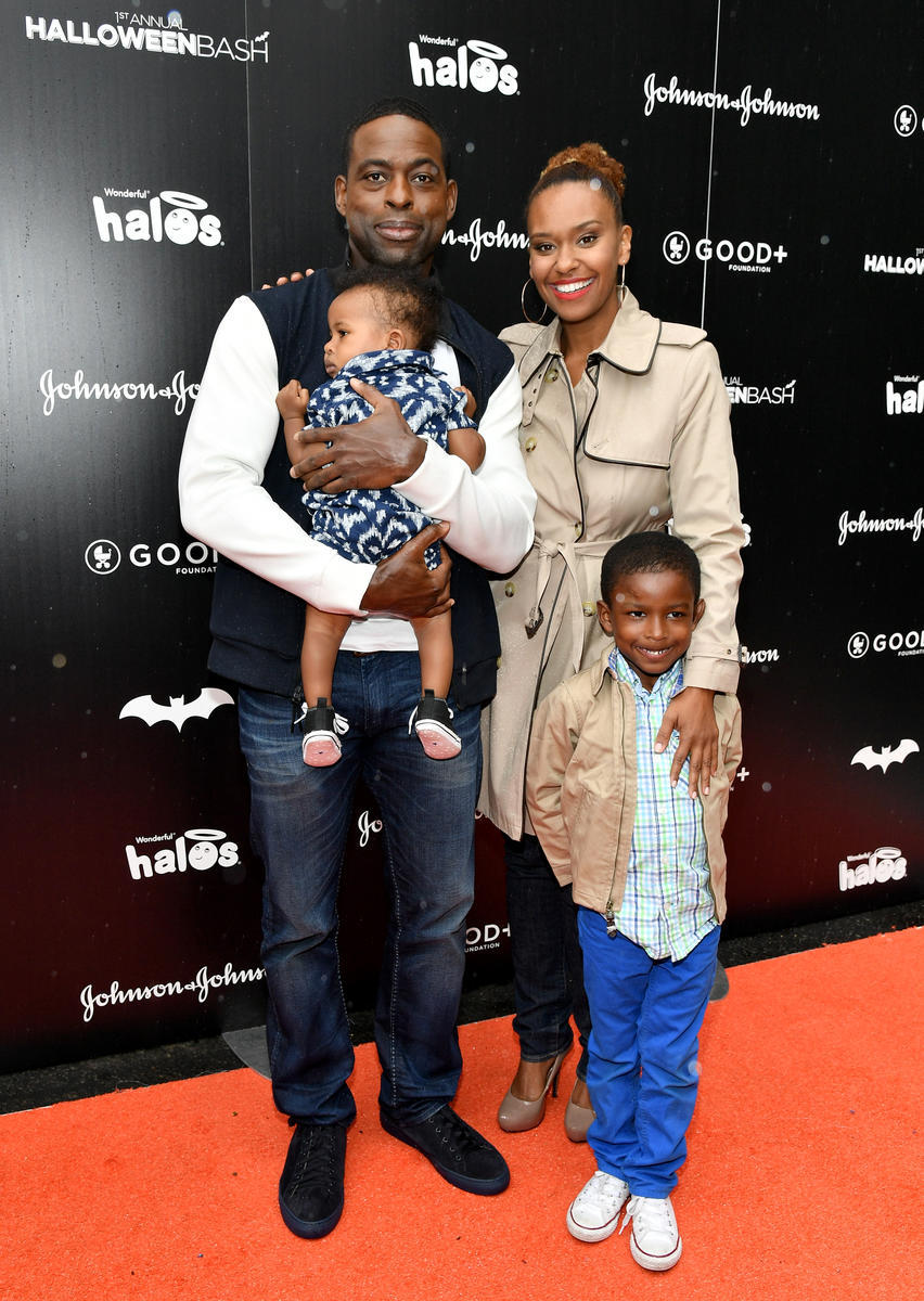 Sterling K. Brown with Wife and Kids