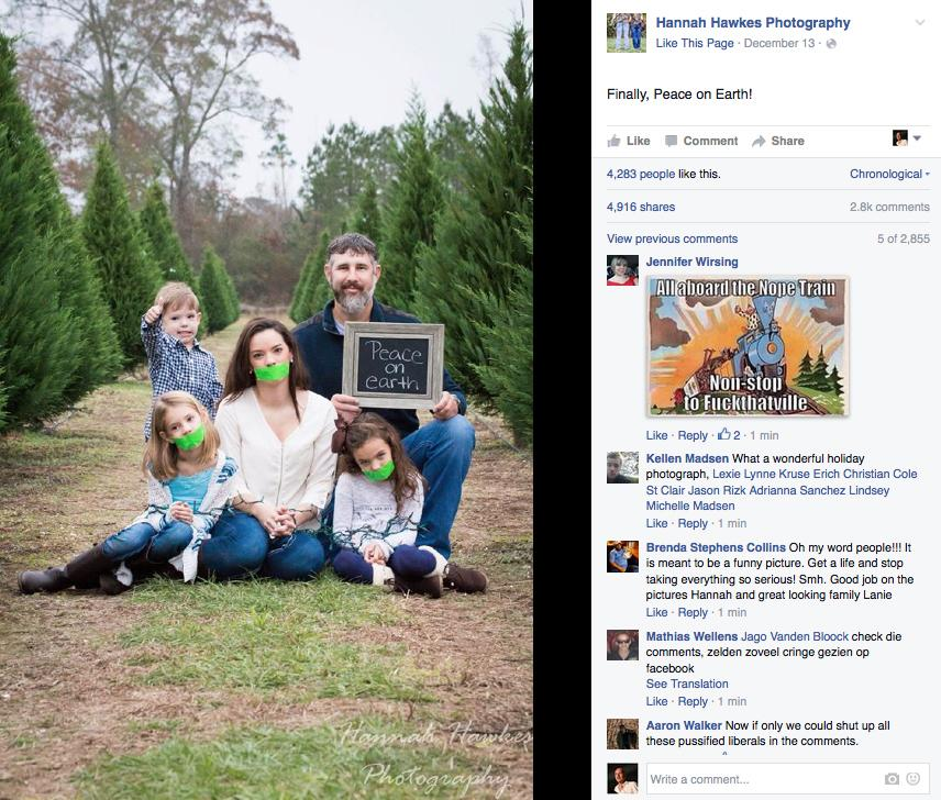 Gag Gone Wrong: Why This Familyu0027s Christmas Photo Is Causing Outrage