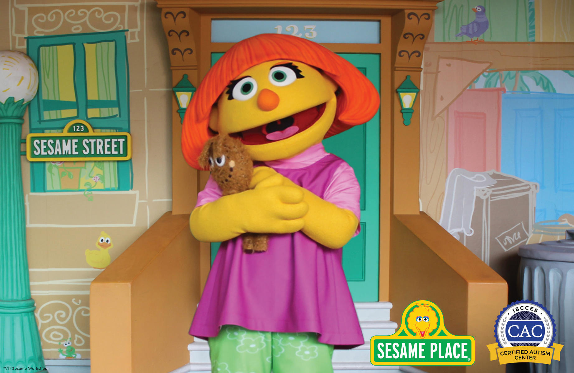 Sesame Street Julia Autism Spectrum Disorder Awareness Theme Park