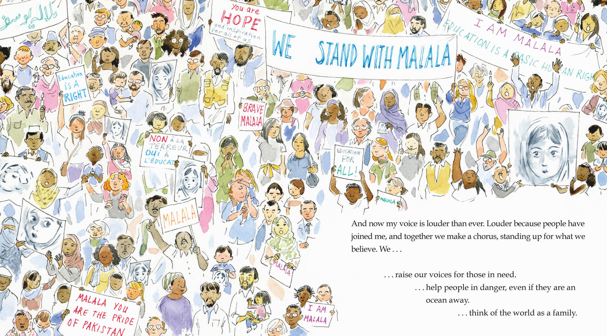 Malala's Magic Pencil Spread
