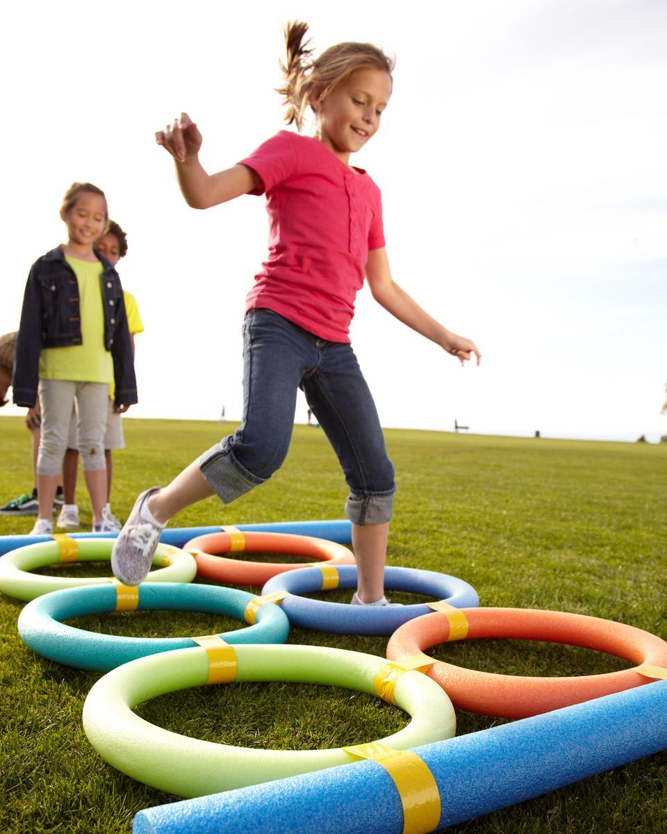 Obstacle Course Girl Jumping Rings