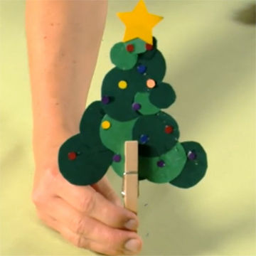 Circle Tree Christmas Craft for Kids HowTo Video